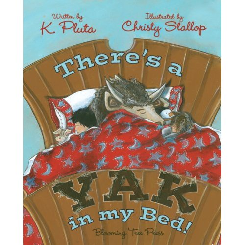 Book cover for there's a yak in my bed.
